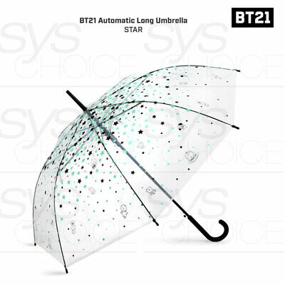 BTS BT21 Official Authentic Goods Automatic Long Umbrella Star 880mm + Express