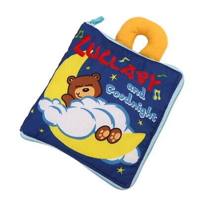 Soft Books Infant Early cognitive Development My Quiet Bookes baby goodnigh L0I9