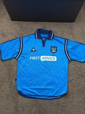 Manchester City Le Coq Sportif First Advice Football Shirt SIZE SMALL 2002-2003