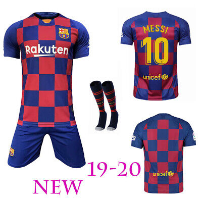 19/20 Soccer Boys Football Club For 2-13 Years Jersey Shirt Kids Kits & Socks