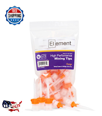 ELEMENT ORANGE HP Mixing Tips - Dental 10:1 CROWN & BRIDGE Temp Material