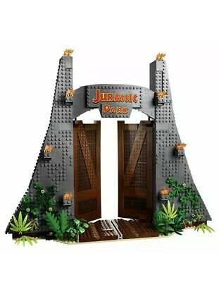 New Exclusive Lego 75936 Jurassic Park Gate only! No Minifigs, No box, No T-Rex.
