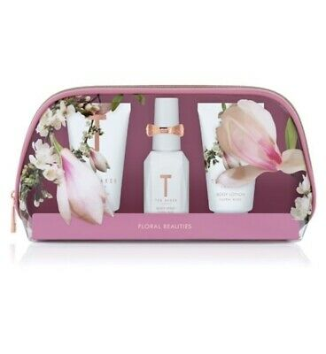 Ted Baker FLORAL BLISS WHITE Mini Beauty Bag Gift Great Tread mark