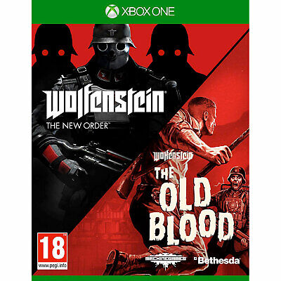 Wolfenstein The New Order & The Old Blood XBOX ONE Double Pack  New & Sealed