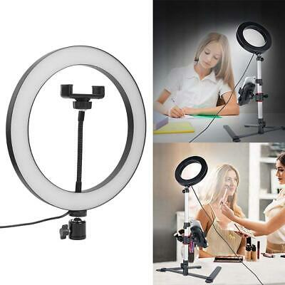 10 inch 122 LED Ring Light Dimmable Beauty Adjustable 3 Lights Color Fill Light