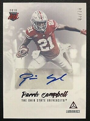 2019 Panini Luminance Football ROOKIE INK Red Parris Campbell AUTOGRAPH #03/10