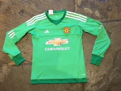 reputable site 2451e 5f1e6 KIDS CHILDS YOUTH Junior Manchester United Football Top Shirt Keeper Adidas  11