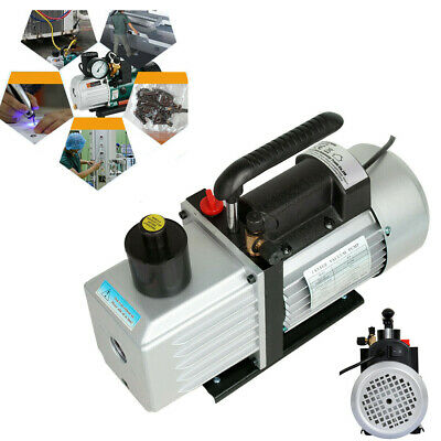 Electric Vacuum Pump 1-Stage 9CFM 3/4HP Rotary Vane Deep HVAC Air Condition 5Pa
