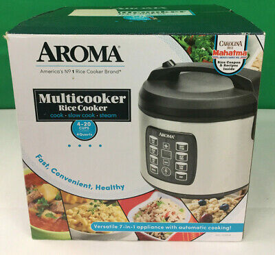Aroma 4 Qt. 4-20 Cup Digital Multicooker Stainless Steel ARC-1030SB