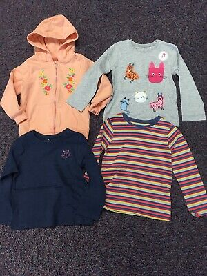 Brand New Next Baby Girls 9-12 Months Bundle Long Sleeve Tops X3 Hoodie