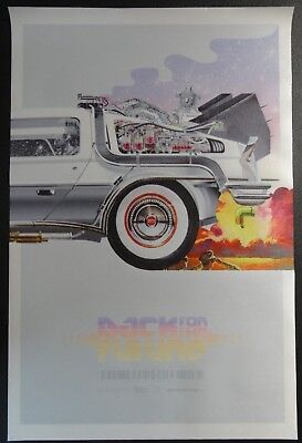 Back FOR To The Future Nike Mag Shoe DeLorean Time Machine FABRIC Poster Banner
