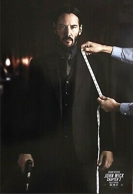 John Wick Chapter 2 suit Movie Poster 27x40