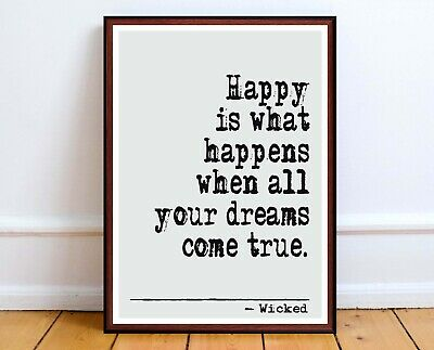 ART PRINT GLINDA Good Witch Elphaba Quote Wicked Musical ...
