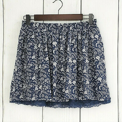a61c3f5fe306 FOREVER 21 LACE Skirt Womens Size Medium Peach Floral Pattern and ...