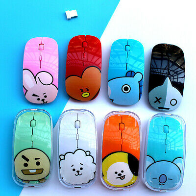 Kpop BTS BT21 Wireless Mouse Silen TATA CHIMMY MANG laptop computer Game Mouse
