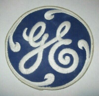 "Vintage GE General Electric Embroidered Patch ""Iron On"" Large Uniform Logo 6"""
