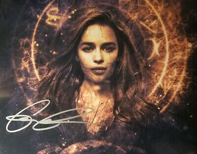 Emilia Clarke Hand Signed 8x10 Photo W/Holo COA - Game Of Thrones
