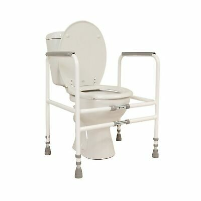 NRS Healthcare M00870 Free Standing Toilet Frame - Width and Height Adjustabl...
