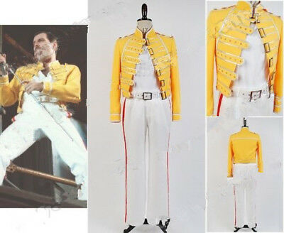 Queen Lead Vocals Freddie Mercury Wembley On Stage Cosplay Jacket Costume Suit