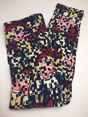 b0ba78556bf5d2 Lularoe TC2 Christmas Leggings Poinsettia Santa Clause Holidays Plus Size  New