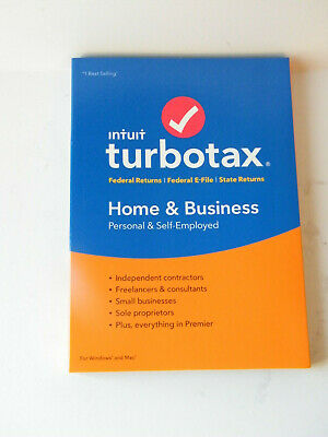 intuit turboTax 2018 Home and Business Federal E-File/State CD