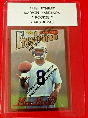 1996 Topps Finest 243 Marvin Harrison Indianapolis Colts Rc
