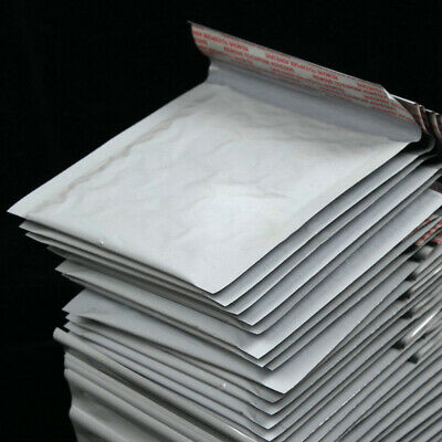 5x Wholesale Poly Bubble Mailers Padded Envelopes Shipping Bags Self Seal White