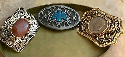 lot of 3 vintage belt buckles