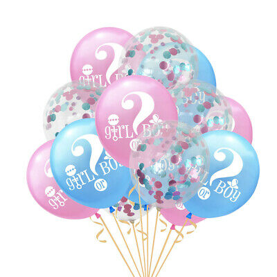 15pcs Balloons Creative Girl Or Boy Latex Gender Reveal Party Supplies