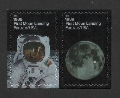 5399-5400 First Moon Landing US Postage Pair Mint/nh Delivery Around 7/25