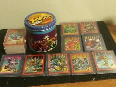 X-men series 2. 1- 100 trading cards, all 30 years cards and Tin
