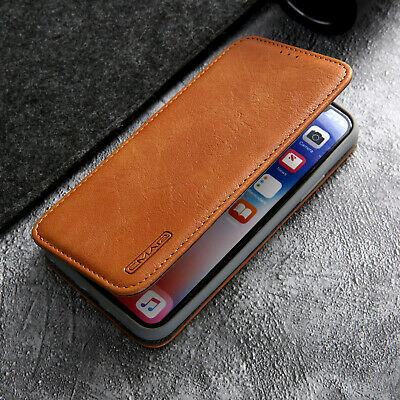 For iPhone 8 7 Plus XS Max XR Magnetic Wallet Case Leather Flip Card Stand Cover