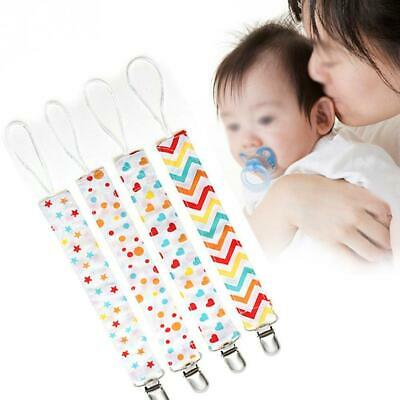 4pcs Baby Anti-lost Hot Clip Holder Dummy Pacifier Soother Nipple Strap Chain Sa