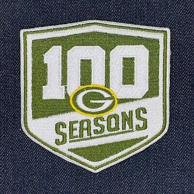 Green Bay Packers 2018 100 Seasons Logo Jersey Patch Iron On