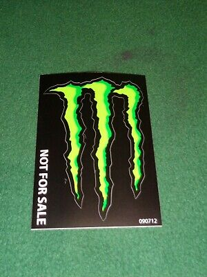 "MONSTER ENERGY STICKER 4"" x 3"" - GREEN M-CLAW GLOSSY DECAL STICKERS BRAND NEW"