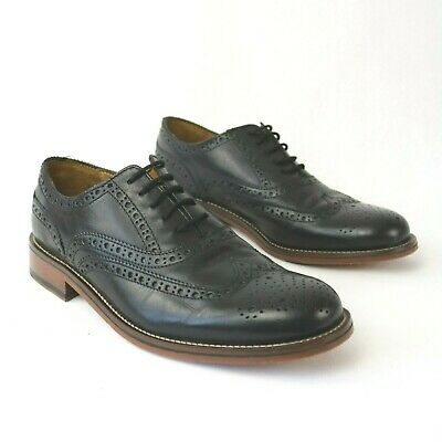 c83c19c084f0 PIERRE CARDIN EU 41 UK 7 Black Leather Brogue Lace Up Shoes Goodyear Welted