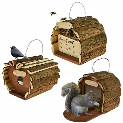 Wooden Hotel Garden Bird Squirrel Insect Bee House Nest Box Feeding Station New