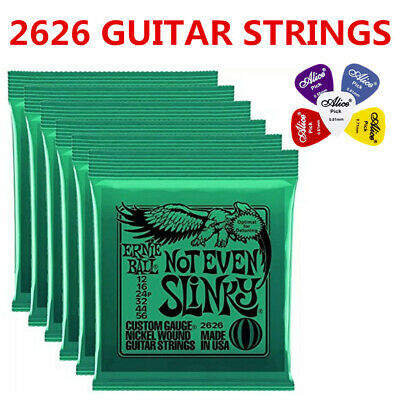 Ernie Ball 2626 Not Even Slinky Electric Guitar Strings 12-56 6 Pack