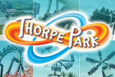 2 X THORPE PARK eTickets  - Sun 15th SEPTEMBER full free entry 4 adult or child