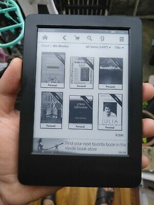 Amazon Kindle 4GB 7th gen excellent ereader ebook huge book collection WP63GW
