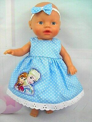 "Dolls clothes~13"" Little Baby Born~Baby Alive Doll~FROZEN SISTERS DRESS SET"