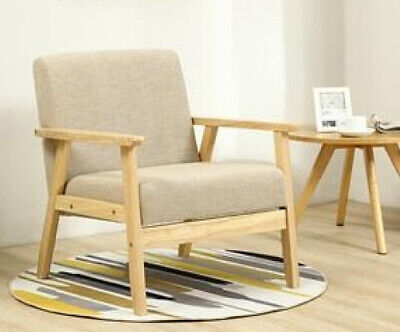 Vintage Armchair Mid Century Lounge Living Room Retro Style Chair Wooden Frame