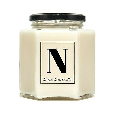 Letter N Alphabet Scented Candle