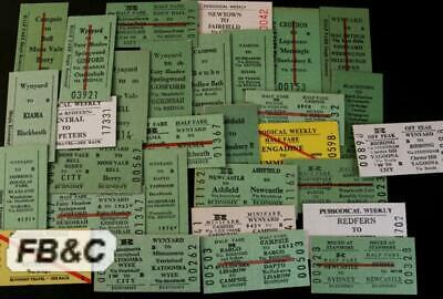 30x 1980s NSW Train Tickets - T5