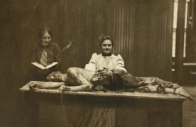 Antique Autopsy Women's Medical College Photo 181 Bizarre Odd Strange