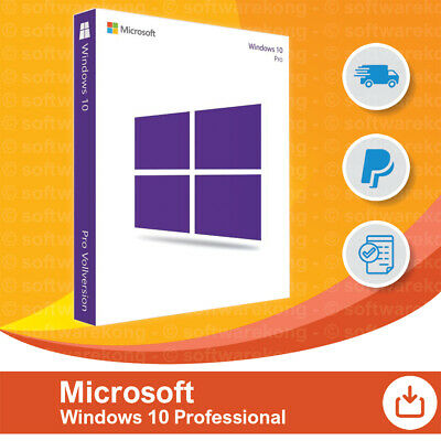 Microsoft Windows 10 Pro vom Microsoft Partner, Original 64/32-Bit, Retail.