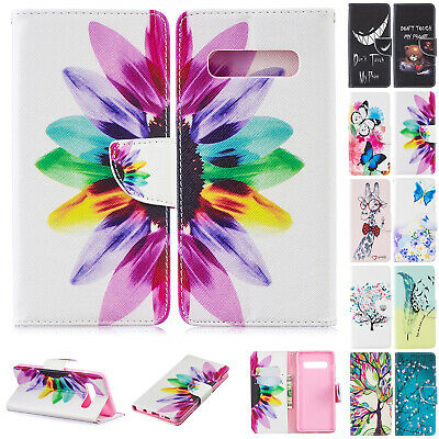 For Samsung Galaxy A20E A50 A10 A30 Case Pattern Magnetic Leather Wallet Cover