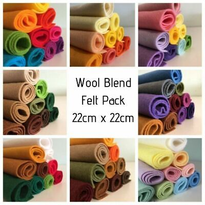 Wool Blend Felt Pack (22cm x 22cm) *10 pieces per pack* CLEARANCE