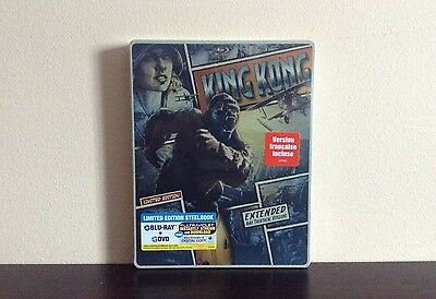 King Kong - limited edition steelbook (Blu-ray/DVD) extended & theatrical *NEW*