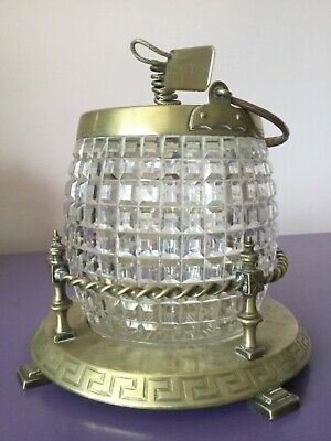 Beautiful Vintage. Silver Plate & Cut Glass Biscuit Barrel. Tea Caddy, Sweet Jar